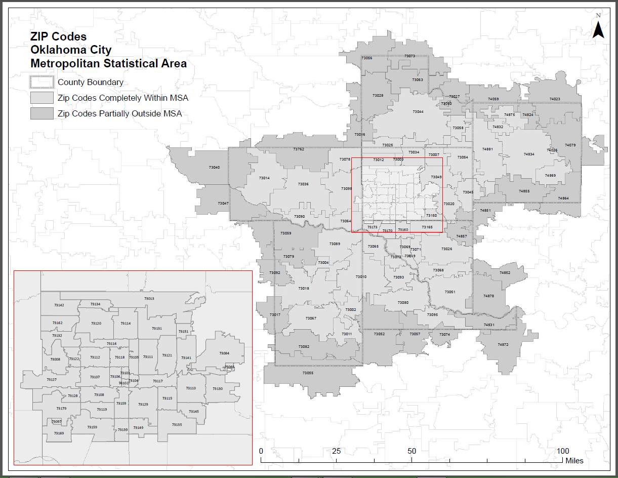 Overall Map Greater Oklahoma City Economic Development - Oklahoma in us map