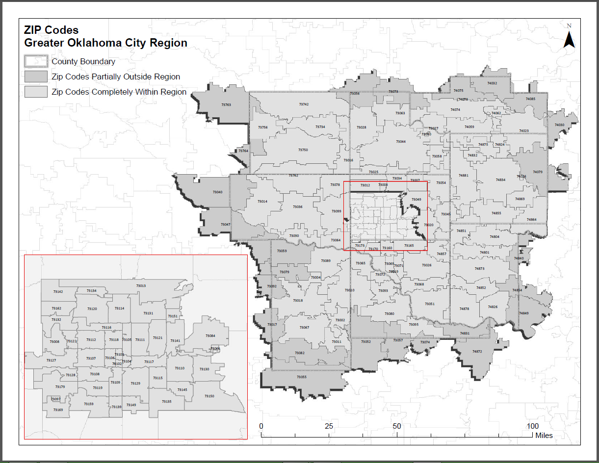 Ada Ok Zip Code Map.State Map Greater Oklahoma City Economic Development