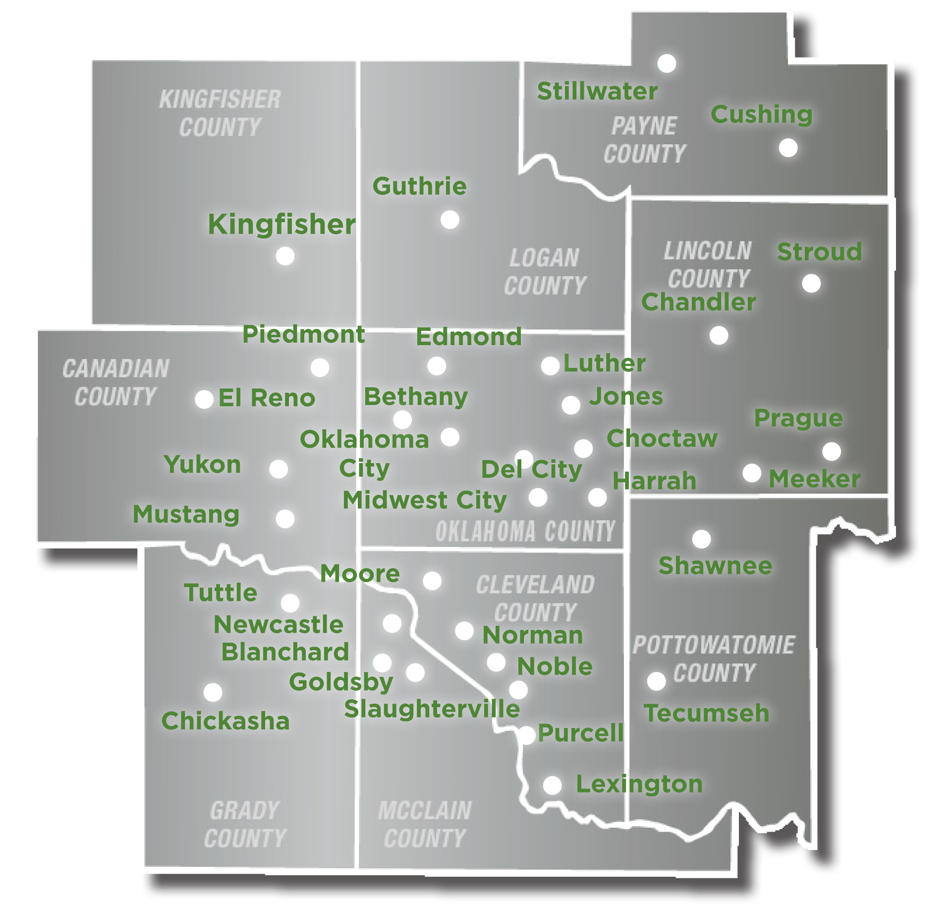 Local Map Greater Oklahoma City Economic Development